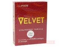 VELVET Strawberry vanilia - nanoSTIX nanoPODS картриджи (3 шт)